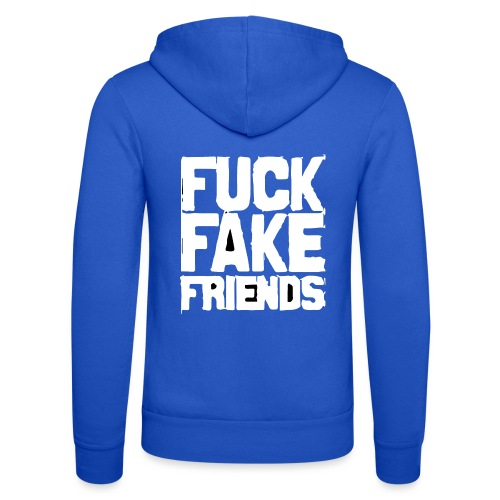 FUCK FAKE FRIENDS - Bluza z kapturem Bella + Canvas typu unisex
