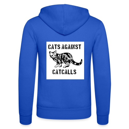 Cats against catcalls - Unisex Hooded Jacket by Bella + Canvas