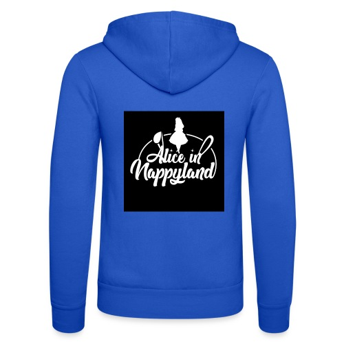 Alice in Nappyland TypographyWhite 1080 - Unisex Hooded Jacket by Bella + Canvas