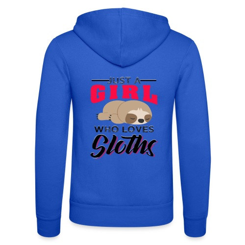 Funny Sloth Quotes - Unisex Kapuzenjacke von Bella + Canvas