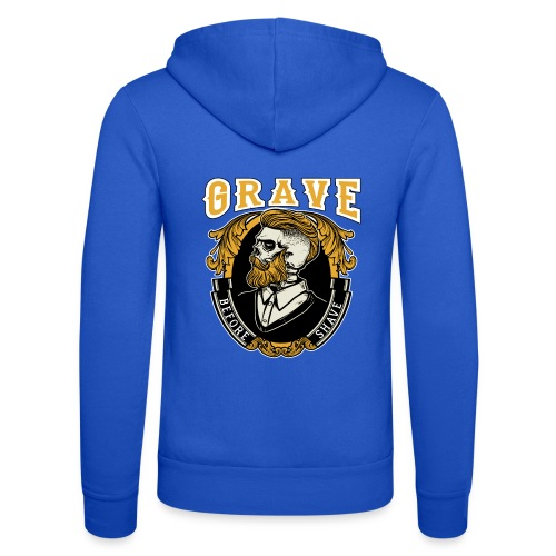 Grave Before Shave Bearded Vintage - Unisex Kapuzenjacke von Bella + Canvas