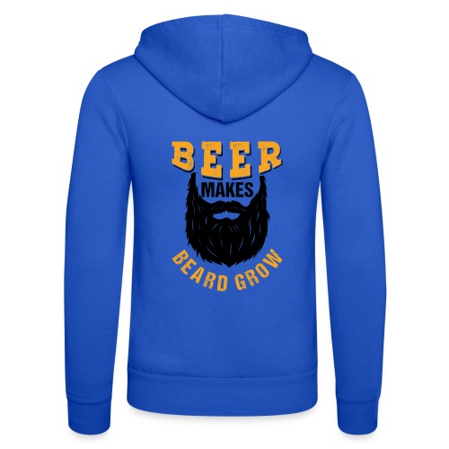 Beer Makes Beard Grow Funny Gift - Unisex Kapuzenjacke von Bella + Canvas