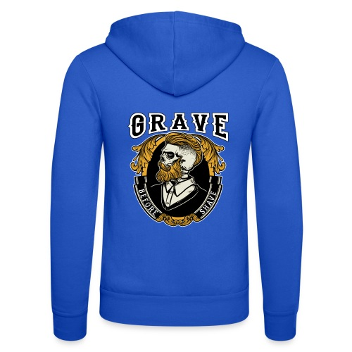 Grave Before Shave Bearded - Unisex Kapuzenjacke von Bella + Canvas