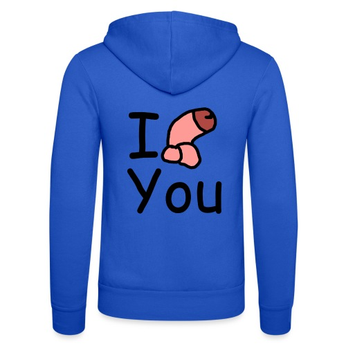 I dong you pillow - Unisex Hooded Jacket by Bella + Canvas