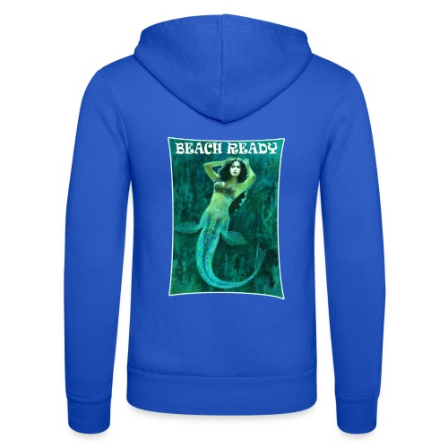 Vintage Pin-up Beach Ready Mermaid - Unisex Hooded Jacket by Bella + Canvas