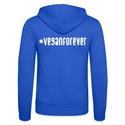 veganforever - Unisex Hooded Jacket by Bella + Canvas