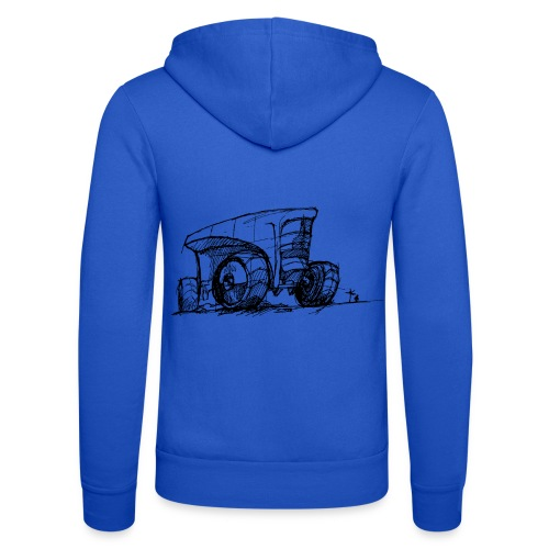 Futuristic design tractor - Unisex Hooded Jacket by Bella + Canvas