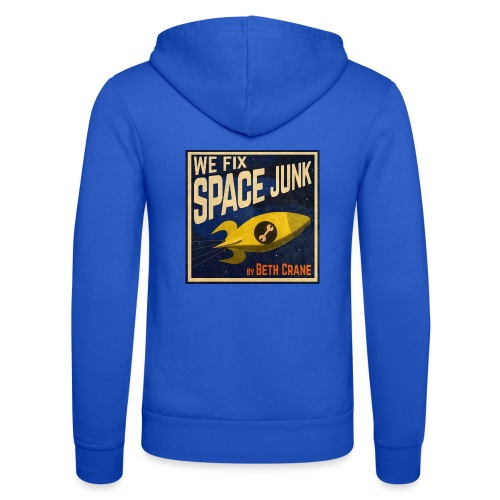We Fix Space Junk logo (square) - Unisex Hooded Jacket by Bella + Canvas