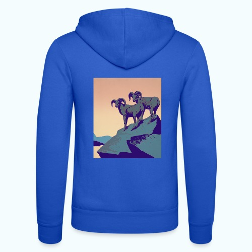 Vintage Capricorn Travel Poster - Unisex Hooded Jacket by Bella + Canvas