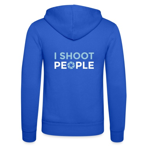 I shoot people - Unisex Hooded Jacket by Bella + Canvas