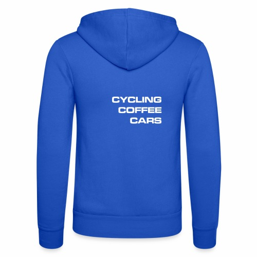 Cycling Cars & Coffee - Unisex Hooded Jacket by Bella + Canvas
