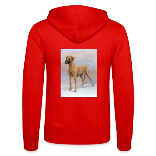Great Dane Yellow - Unisex hættejakke fra Bella + Canvas