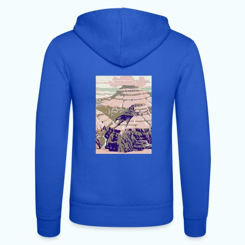 Rocky Mountains Vintage Travel Poster - Unisex Hooded Jacket by Bella + Canvas