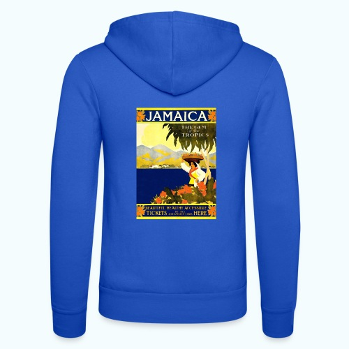 Jamaica Vintage Travel Poster - Unisex Hooded Jacket by Bella + Canvas