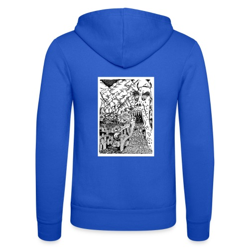 Sea Monsters T-Shirt by Backhouse - Unisex Hooded Jacket by Bella + Canvas