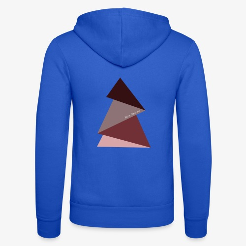 fir triangles 2 - Unisex Hooded Jacket by Bella + Canvas