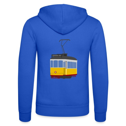 Tram car yellow - Unisex Hooded Jacket by Bella + Canvas