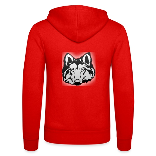 Wolfie (Red) - Unisex Hooded Jacket by Bella + Canvas