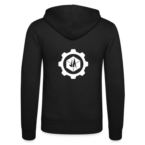 Jebus Adventures Cog White - Unisex Hooded Jacket by Bella + Canvas