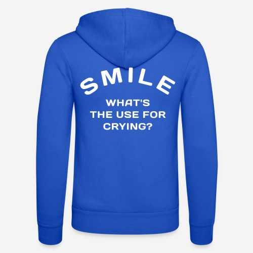 smile happy cry - Unisex Kapuzenjacke von Bella + Canvas