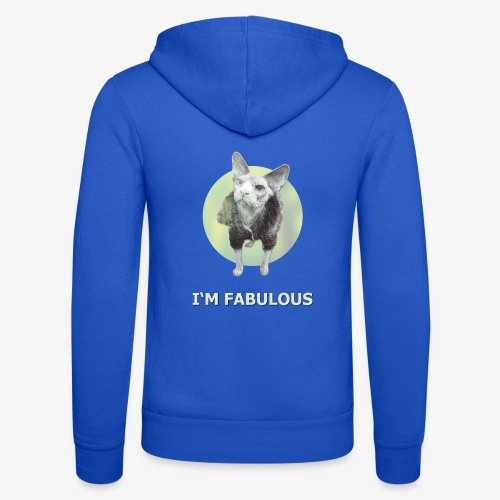 I'm fabulous with the Cat - Unisex Kapuzenjacke von Bella + Canvas