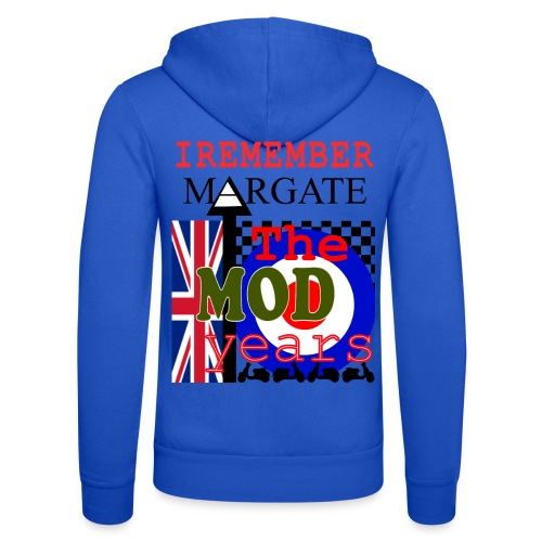 REMEMBER MARGATE - THE MOD YEARS 1960's - Unisex Hooded Jacket by Bella + Canvas