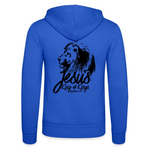 LION - JESUS KING OF KINGS // Black - Unisex Hooded Jacket by Bella + Canvas