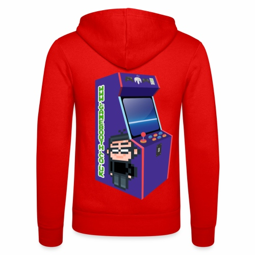 Game Booth Arcade Logo - Unisex Hooded Jacket by Bella + Canvas