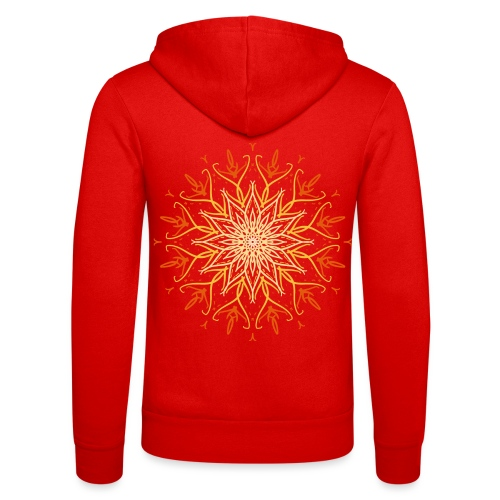 Mandala of fire - Unisex Hooded Jacket by Bella + Canvas