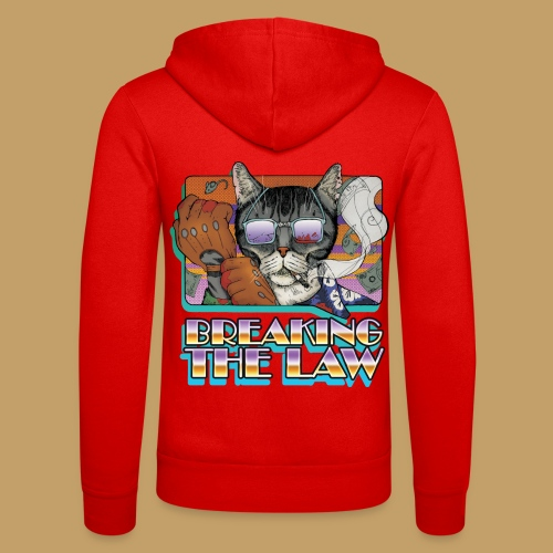 Crime Cat in Shades - Braking the Law - Bluza z kapturem Bella + Canvas typu unisex