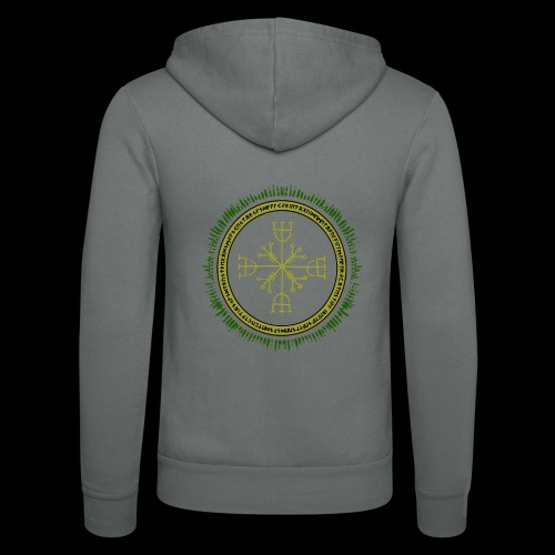 Norse Runes with Aegishjalmur 2017 - Unisex Hooded Jacket by Bella + Canvas