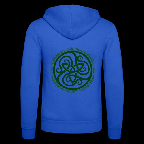 Green Celtic Triknot - Unisex Hooded Jacket by Bella + Canvas