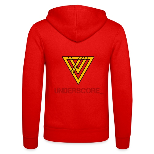 Underscore Yellow Red - Unisex Hooded Jacket by Bella + Canvas