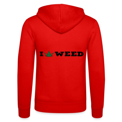 I LOVE WEED - Unisex Hooded Jacket by Bella + Canvas