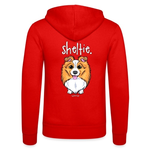 Sheltie Dog Cute 5 - Unisex Hooded Jacket by Bella + Canvas