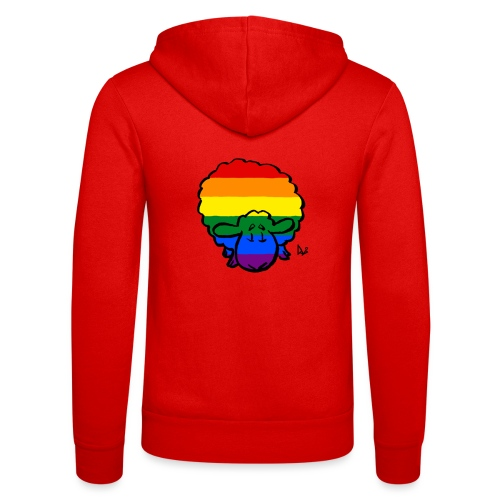 Rainbow Pride Sheep - Felpa con cappuccio di Bella + Canvas