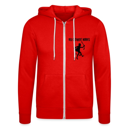 Red Cuthbert Logo design - Unisex Hooded Jacket by Bella + Canvas