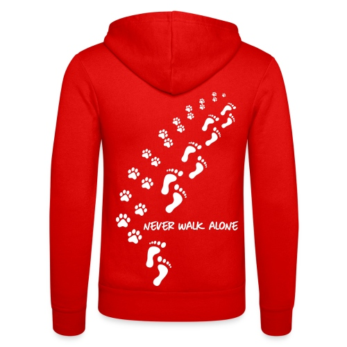 Vorschau: never walk alone dog - Unisex Kapuzenjacke von Bella + Canvas
