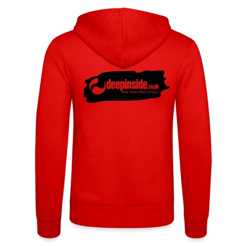 deepinside world reference marker logo black - Unisex Hooded Jacket by Bella + Canvas