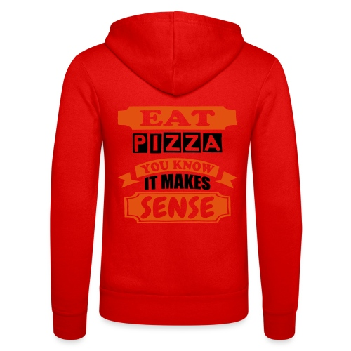 Eat Pizza - Unisex Hooded Jacket by Bella + Canvas