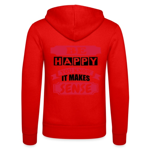 Be Happy - Unisex Hooded Jacket by Bella + Canvas