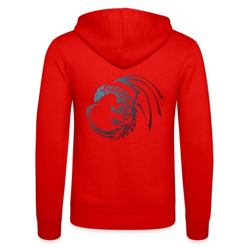 color Dragon - Unisex Hooded Jacket by Bella + Canvas