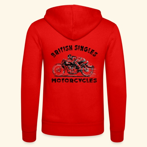 british motorcycles - Unisex Hooded Jacket by Bella + Canvas