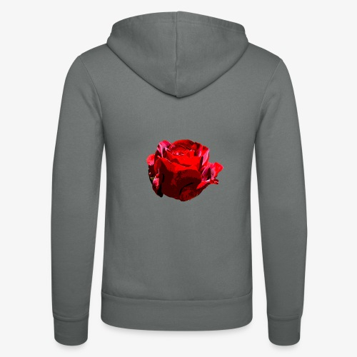 Red Rose - Unisex Kapuzenjacke von Bella + Canvas