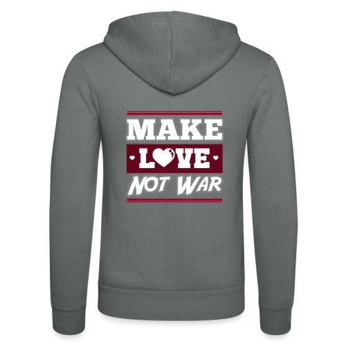 Make_love_not_war by Lattapon - Unisex hættejakke fra Bella + Canvas