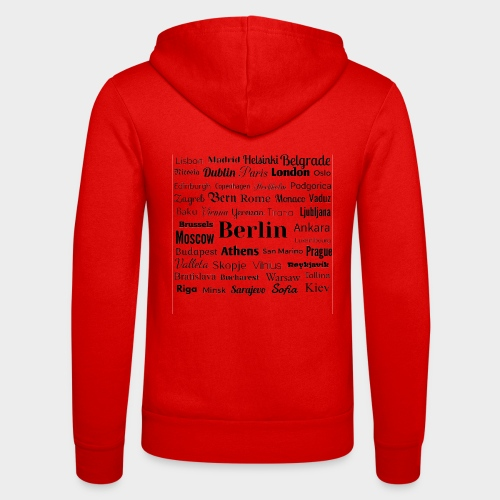 European capitals - Unisex Hooded Jacket by Bella + Canvas