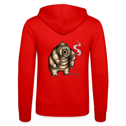 Smokey the Water Bear - Unisex Hooded Jacket by Bella + Canvas