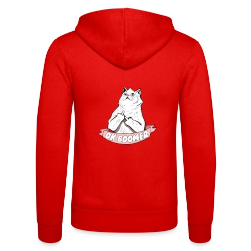 OK Boomer Cat Meme - Unisex Hooded Jacket by Bella + Canvas