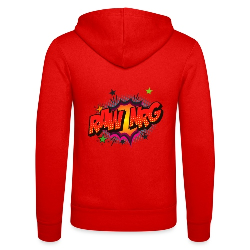 Raw Nrg comic3 - Unisex Hooded Jacket by Bella + Canvas