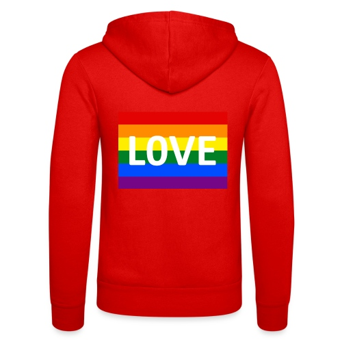 LOVE SHIRT - Unisex hættejakke fra Bella + Canvas